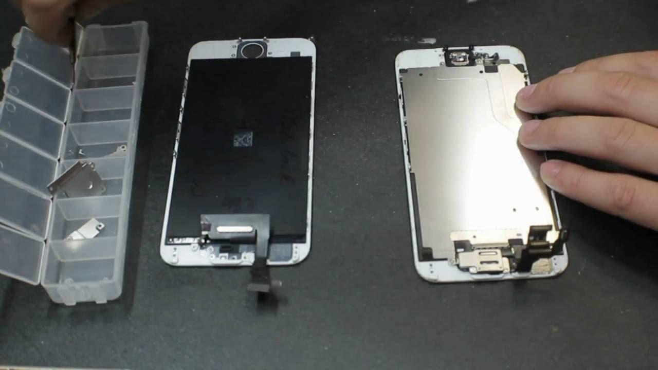 iPhone 6 разбор и замена дисплейного модуля экрана, стекла ...