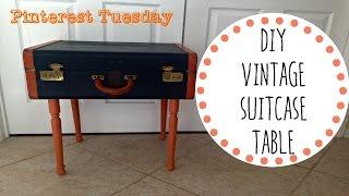 DIY Vintage Suitcase Table! - Pinterest Tuesday
