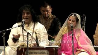 Piyoosha and Kailash 'Anuj' sing Krishna Bhajan 'Har Saans Me Manwa Gaye Ja'