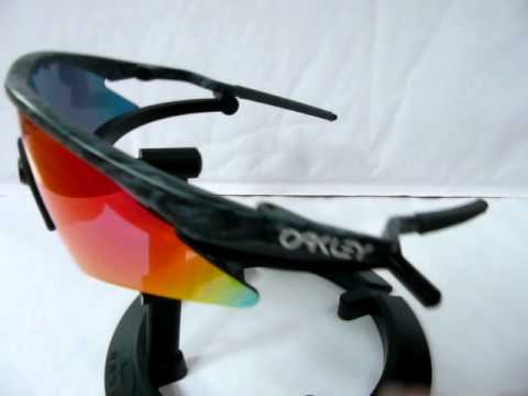 oakley m frame mumbos black rain frame with red iridium sweep lens youtube
