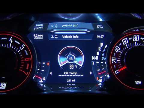 Instrument Cluster Display-Digital dashboard on the car instrument panel of 2018 Dodge Challenger