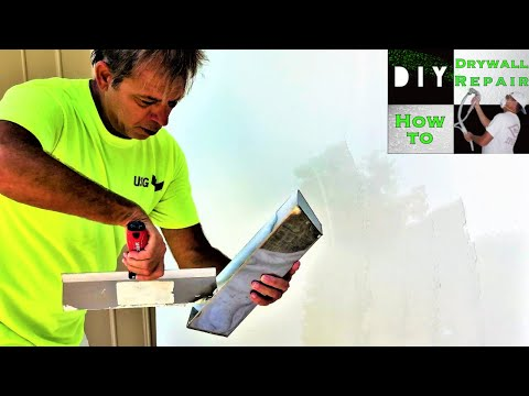 How to easily skim coat walls by hand