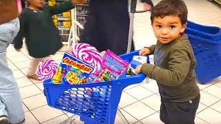 little boy shopping shop ,kids boys