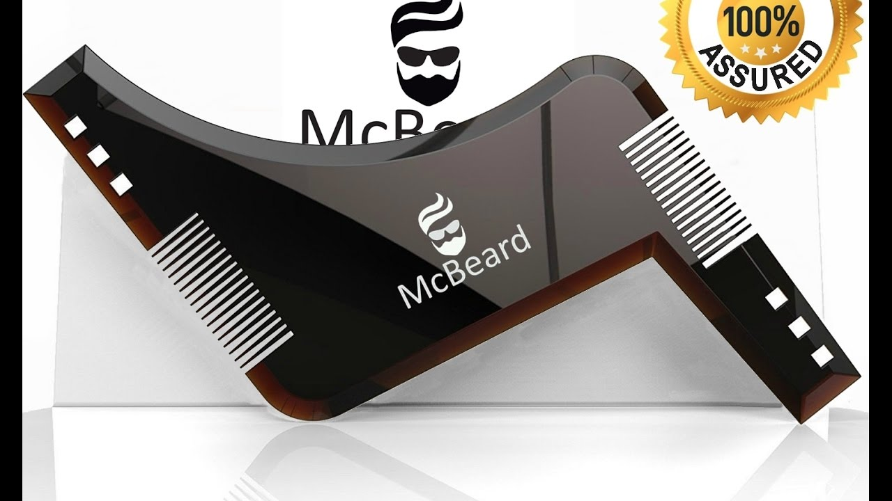 graphic relating to Beard Shaping Template Printable referred to as McBeard All inside A single Beard Shaping Styling Template Device Beard Comb.