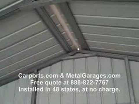 Metal Garage A Frame All Vertical Siding Youtube