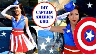 CAPTAIN AMERICA GIRL COSTUME!- USO Girl- No Sew