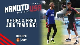 De Gea & Fred Train with the Squad! | Watch United v Liverpool LIVE on MUTV today, KO 22:00 BST