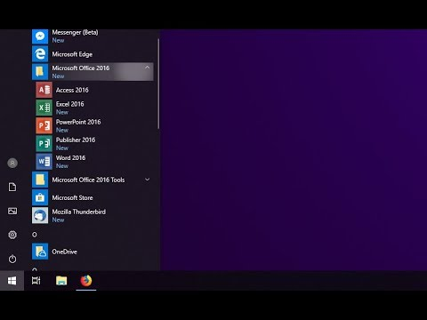 How To | Move The Microsoft Office Icons Into A Folder On The Start Menu