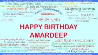 Amardeep   Languages Idiomas - Happy Birthday