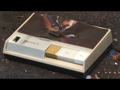 Smashing a Vintage Realistic Plug'n Talk 43-212 FM Wireless Intercom
