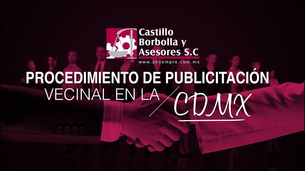 Procedimiento de publicitación vecinal en la CDMX