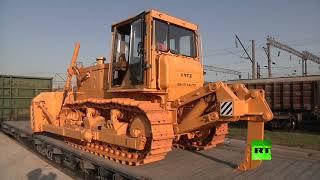 روسيا ترسل مواد بناء ومعدات لترميم البنية التحتية في سوريا
