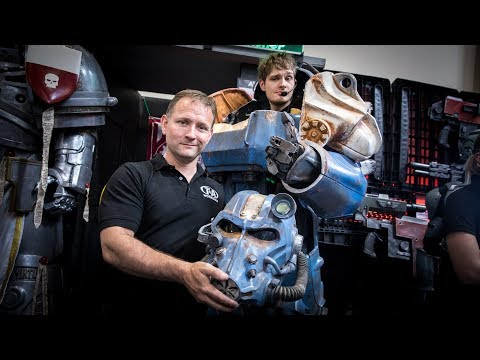 Awesome Fallout 4 and Warhammer Space Marine Armor!
