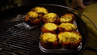 Фаршированные перцы на гриле (под сыром, само собой)
