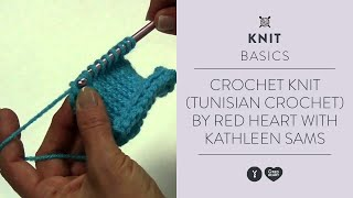 Crochet Knit (Tunisian crochet) by Red Heart with Kathleen Sams