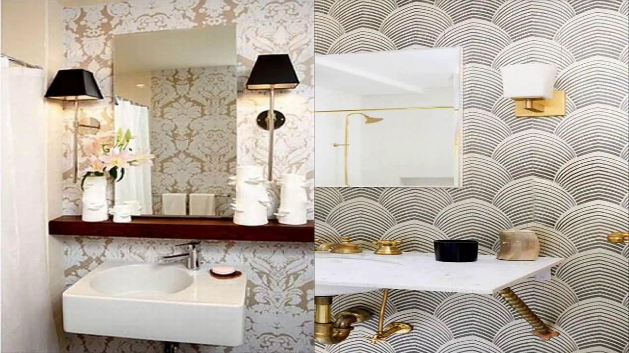 Wallpaper Designs For Bathroom - YouTube