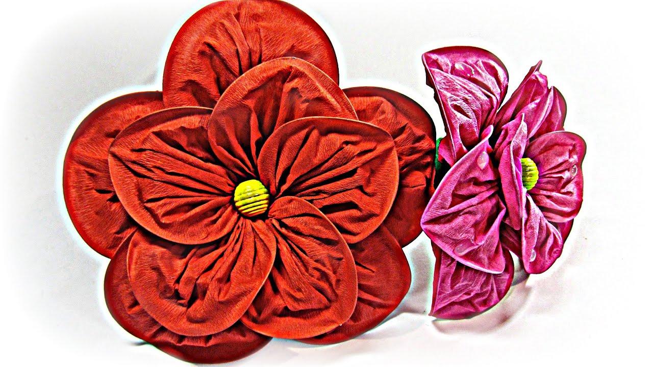 C mo hacer flores grandes de papel large paper flowers - Como hacer flores ...