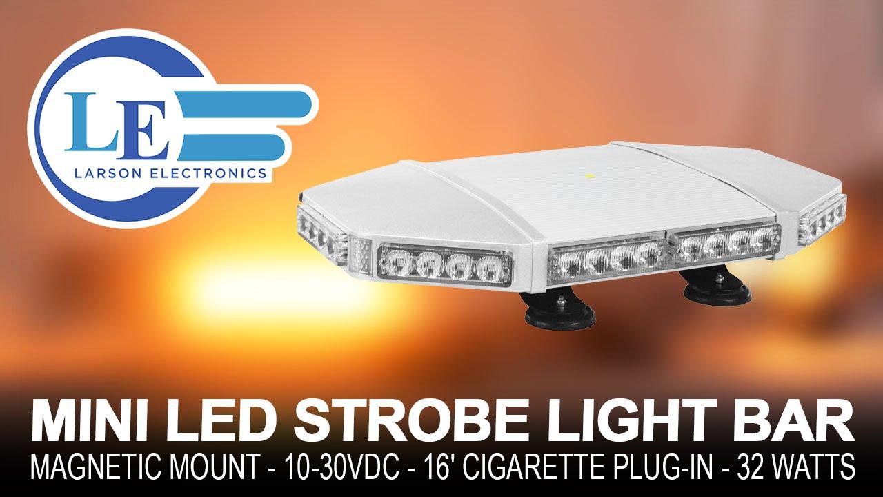 Mini Led Light Bar >> Mini LED Strobe Light Bar - Suction/Magnetic Mount - 10 ...