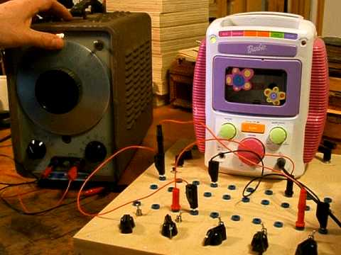 Vintage HP 200CD Oscillator + Circuit Bent Barbie Karaoke