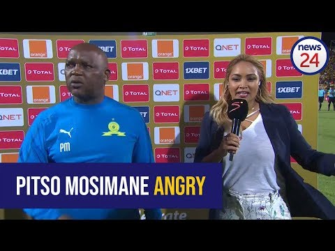 WATCH: Pitso Mosimane Blasts Wydad Casablanca Players For Alleged Intimidation