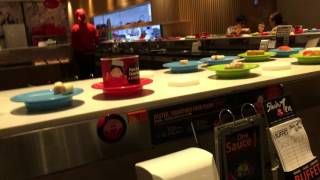 Magnetic plates conveyor at Shabu Ten 1 Utama