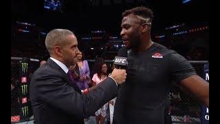 UFC Minneapolis: Francis Ngannou Octagon Interview