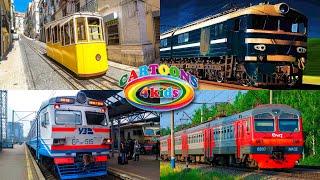 Поезда для детей видео тесты. Новый сборник про поезда и вагоны для малышей