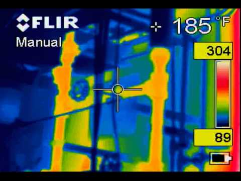 infrared of Boiler with degrading insulation  www.infraredsurvey.com