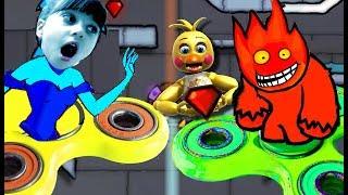 ОГОНЬ и ВОДА Найди АНИМАТРОНИКА в ЛЕДЯНОМ ХРАМЕ Смешное видео для детей игровой мульт Валеришка