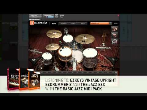 Basic Jazz MIDI for EZdrummer 2 & Superior Drummer 3