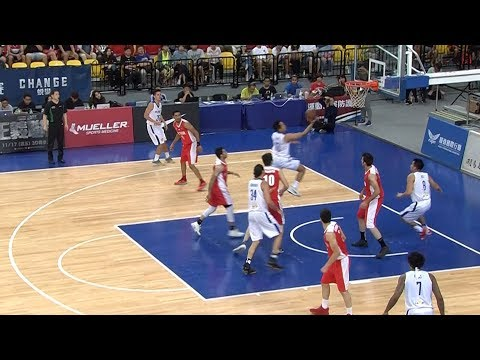 Mike Tolomia FAKES Out his Iranian defender (VIDEO) Jones Cup 2017