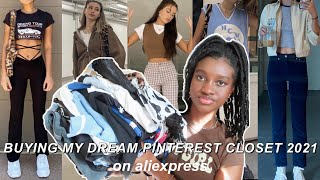 buying my dream PINTEREST closet on ALIEXPRESS! (TRY ON HAUL)