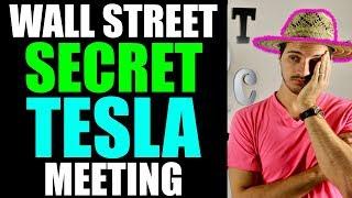 Wall Street Turns Bullish On Tesla Stock After Secret Meeting With Tesla Executives! Elon Musk 🤔