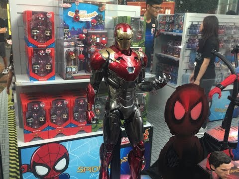 DIECAST Mark 47 Prototype by Hot Toys at Spider-Man Homecoming exhibition