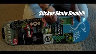 Sticker Bomb Skateboard