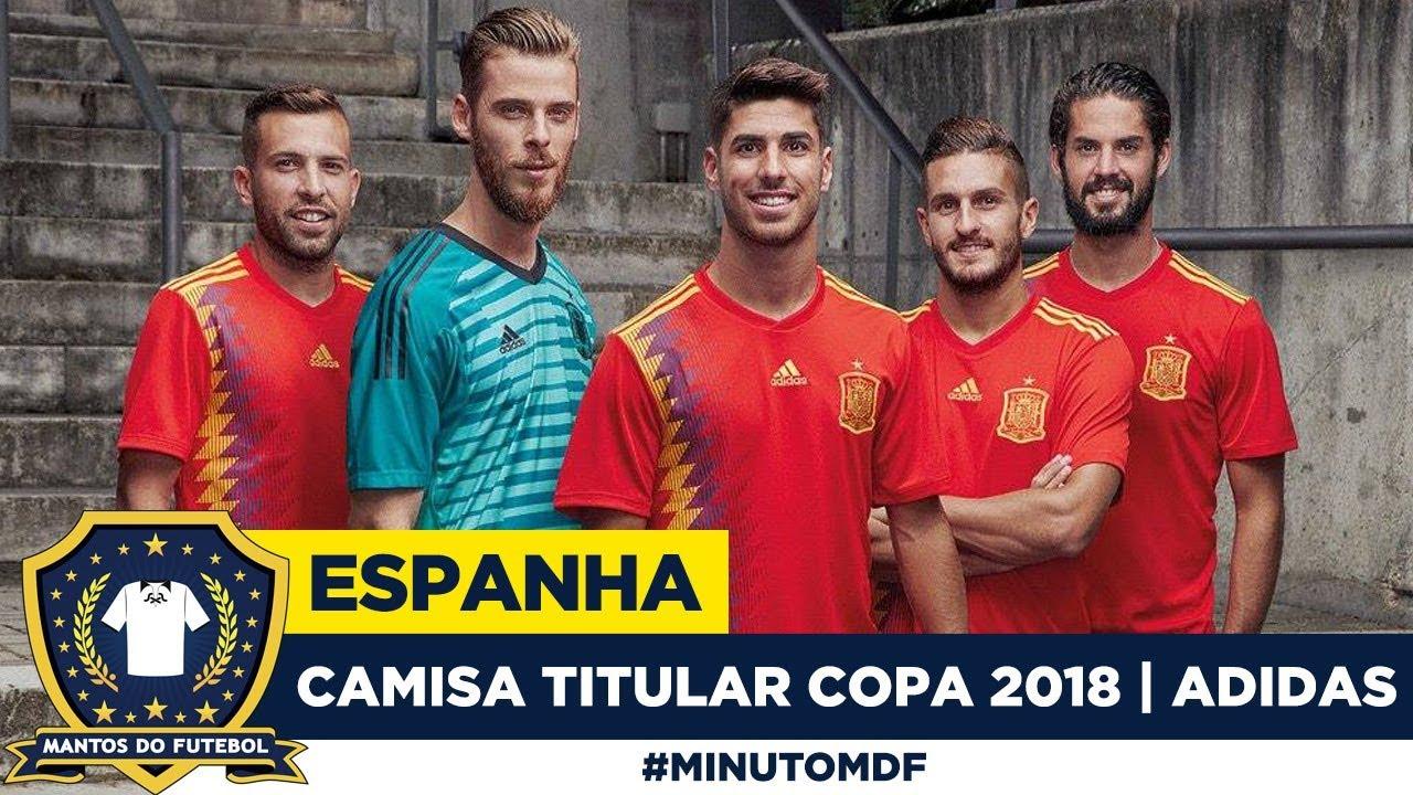 a30b21b756d1d Camisa titular da Espanha Copa do Mundo 2018 Adidas - YouTube