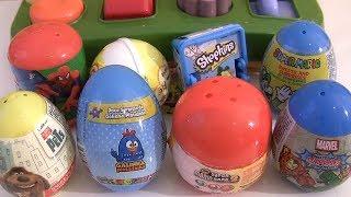 Abrindo muitas surpresas Pop-up Toys ovo da Galinha Pintadinha Chupa Chups Bob Sponja