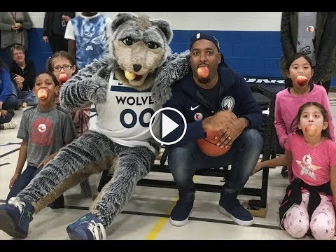 Timberwolves CRUNCH Promotes Healthy Eating  at Saint Paul Music Academy (SPMA)