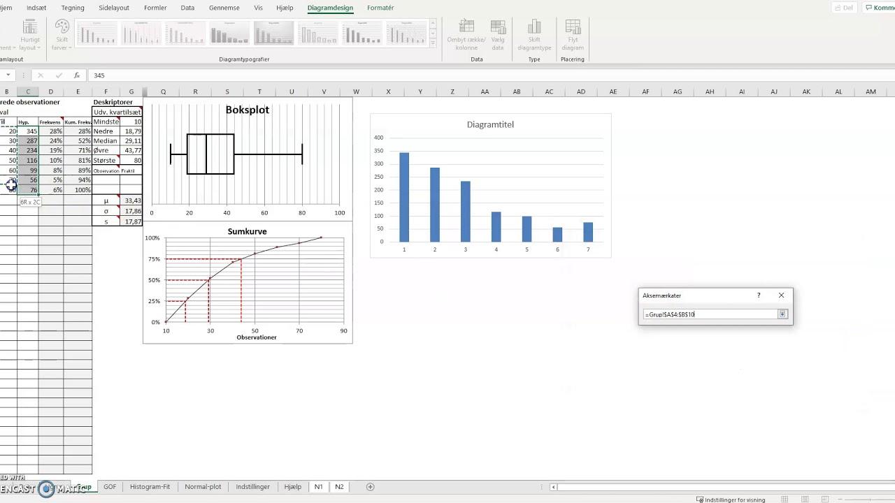 Statistik grupperet i WordMat