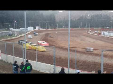 9/24/16 late model heat race coos bay speedway