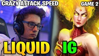 LIQUID vs IG TI8 - MIRACLE LINA CRAZY INSANE ATTACK SPEED - Game 2