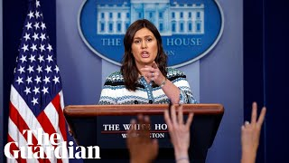 Sarah Sanders holds White House briefing - watch live