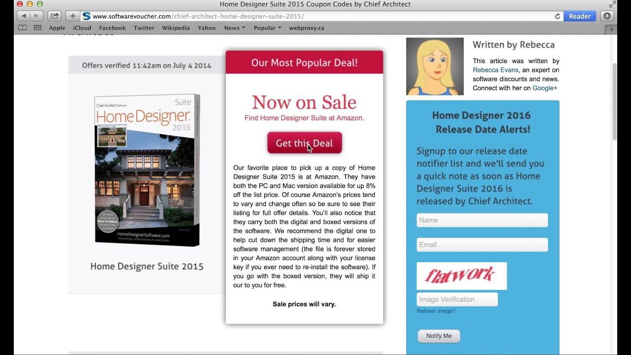 Home Designer Suite 2015 - Using a coupon code from SoftwareVoucher ...