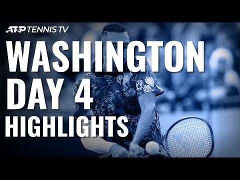 Tsitsipas and Kyrgios Storm into Quarter-finals   Washington 2019 Highlights Day 4
