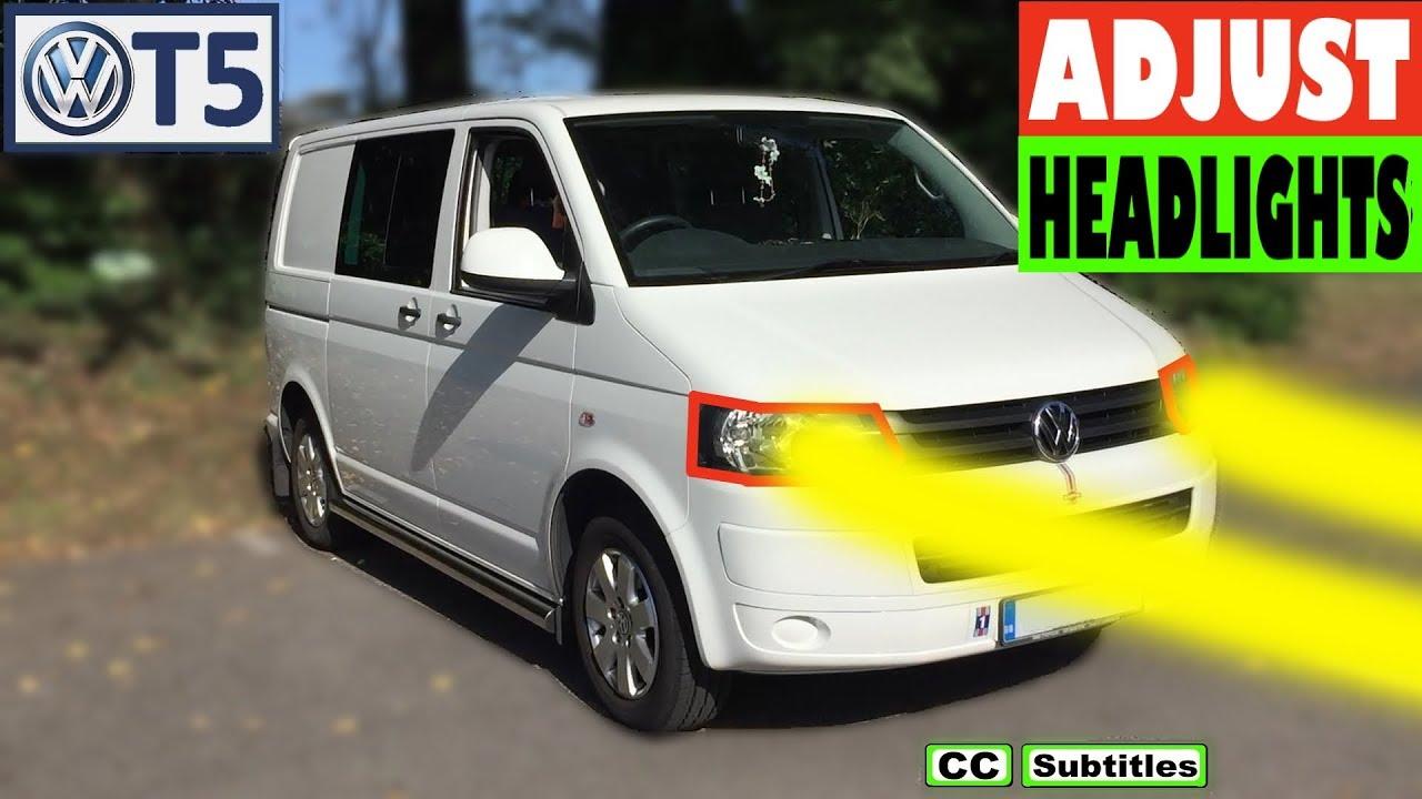 How to adjust headlamp beam on VW T5 Transporter - VW T5 Headlight  Adjustment