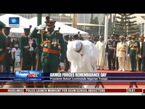 Armed Forces Remembrance Day: President Buhari Commends Nigerian Troops