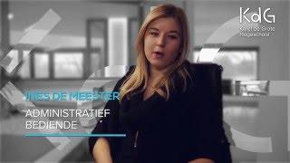 Alumnus Ines De Meester is administratief bediende bij een deurwaarderskantoor