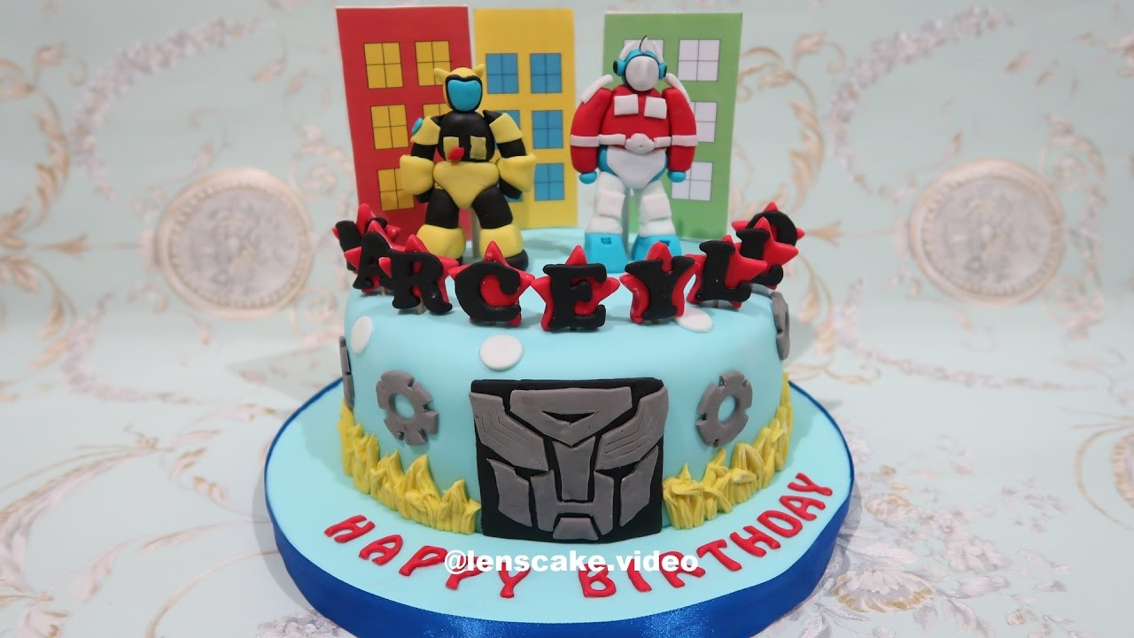 How To Make Birthday Cake Robot Transformers Cara