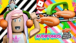 Roblox Tutorial get the Blimp Headphones in Spanish from the Kids' Choice Awards 2018