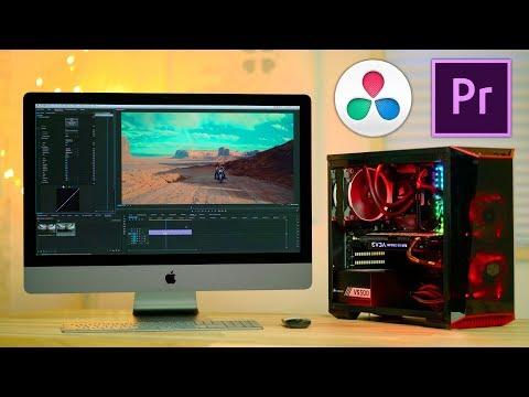 $1350 PC vs $5000 iMac PRO for Video Editing 😲 Premiere & Resolve